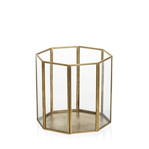 YANKEE CANDLE Romance Lanterna, Metallo, Gold, 15.5 X 15.5 X 14.5 Cm