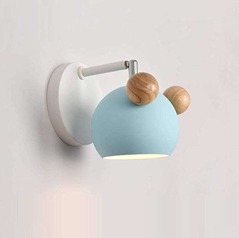 OwentsWall Lamp Nordic Logs Blau Wandleuchte Einfache Moderne Schlafzimmer Nachtwandleuchte Kreative Led Wohnzimmer Gang Ganglichter