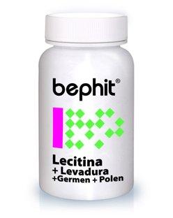 LECITINA BIO + Levadura + Germen + Polen BEPHIT - 80 cápsulas 840 mg