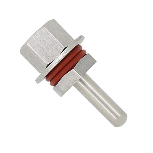 Otomatico 1/2 Pulgada - Vaina de Protection termopozo para termometro sonda Sensor Montaje rápido Acero Inoxidable 304 inmersión de 30 50 100 200 300 400 500mm (50mm)