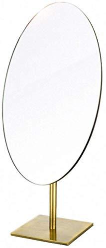 Miroir JT- Maquillage rétro de Bureau Simple Face HD de Bureau Portable Simple Beauté Princesse Petit et Pratique