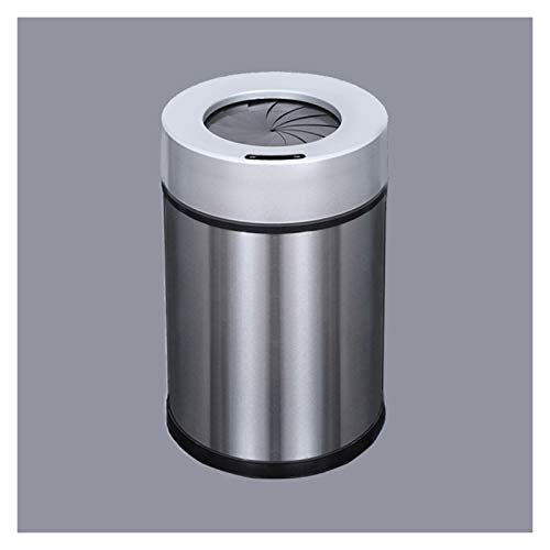 Papeleras La basura doméstica de acero inoxidable puede intercalar el hogar de la basura eléctrica de las latas de basura de la inducción redonda con la carga USB, la apertura de la inducción en espir