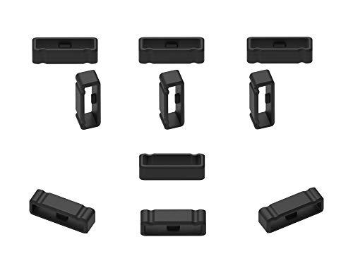 Ruentech Anillo de cierre compatible con Garmin Fenix 3/Fenix 3 HR. Correa de reloj de pulsera de silicona con lazo seguro para Fenix 3/Fenix 3 (22 unidades)