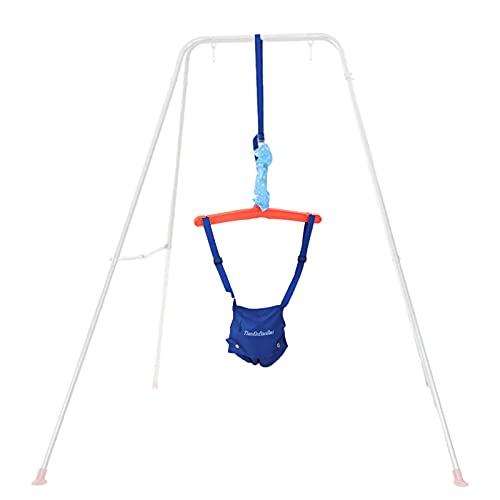 Exuberia Saltador Bebe Cómodo Saltador Puerta Bebe Columpio Elástico Bebe, Longitud Ajustable, para Un Peso Máximo De 16 Kg (Sin Marco De Hierro)