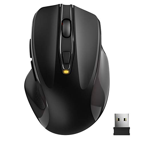 TedGem Raton Inalámbrico Portatil, 2.4G Raton Inalambrico Mouse con Receptor USB Nano para PC/Windows/Mac