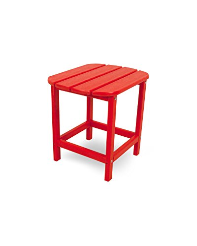 POLYWOOD SBT18SR South Beach 18' Outdoor Side Table, Sunset Red