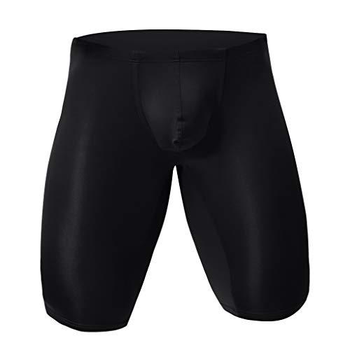 Homme Nouveau Longue Caleçons Fashion Sexy Underwear Couleur Unie Sport sous-vêtements Maillots de Corps Slips Bluestercool