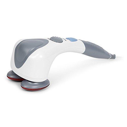 EGO PLUS Massaggiatore di vibrazione e infrarossi (modello 2021) - Vibromassaggiatore elettrico portatile - Massaggio shiatsu, anticellulite, percussione - 2 Anni Garanzia