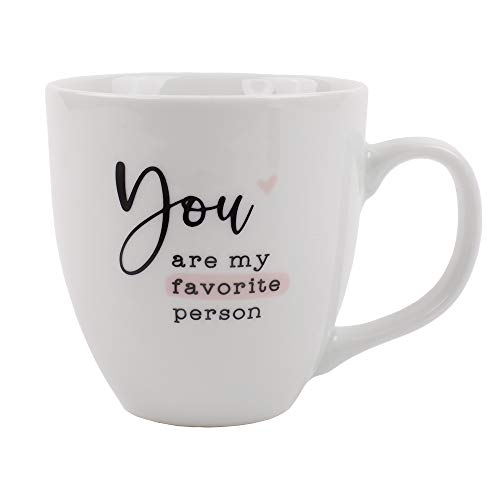 Odernichtoderdoch Jumbo-Tasse You Are My Favorite Person - Kaffeebecher aus Porzellan mit Spruch - Volumen 0,4 l, Höhe 9,5 cm, weiß