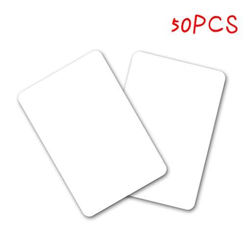 Blank 50PCS NTAG215 unprintable wiederbeschreibbare NFC Smart Card Karten Weiß Durable