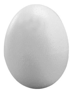 Rayher Hobby 3317100 Styropor-Ei, 2 Halbschalen, Höhe 30 cm, weiß