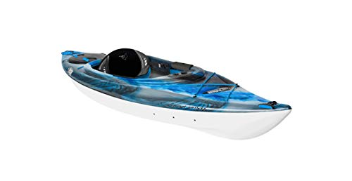Pelican Recreational Performance Sit-in Kayak - Sprint XR - Lightweight one Person Kayak (Neptune/White/Cyan, 10.75 Feet, KNP10P100-00)