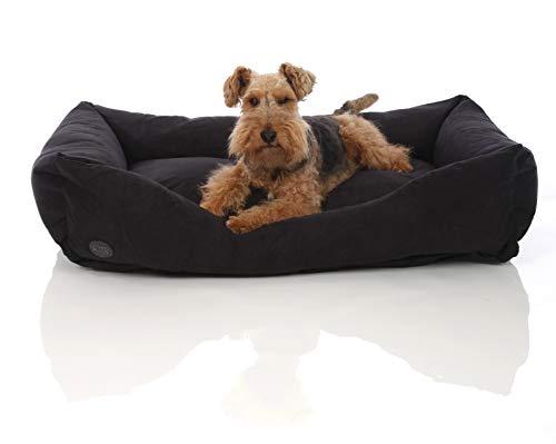 Pets&Partner® Hundebett | Hundekissen | Hundekorb |Hunde Bett/Sofa für groß und klein, Größe L bis XXL, XL Schwarz