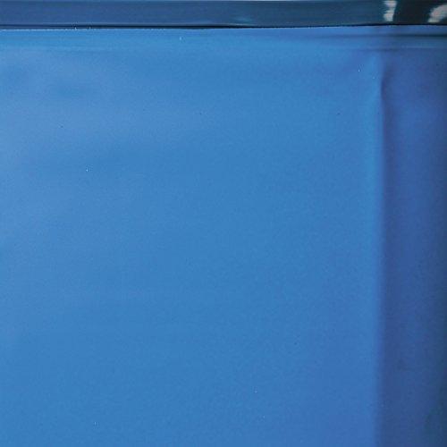 Gre KIT500WB Structure Piscine Ovale 14550L Bleu, Bois Hors Sol-Hors Sol (Structure Piscine, Ovale, 14550L, Bleu, Bois, EN16713, 3000L/h)