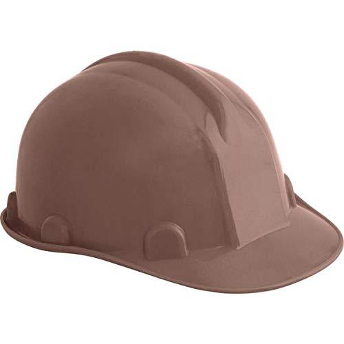 Capacete aba frontal marrom com carneira plastica classe b ca 31469 selo inmetro - Vonder