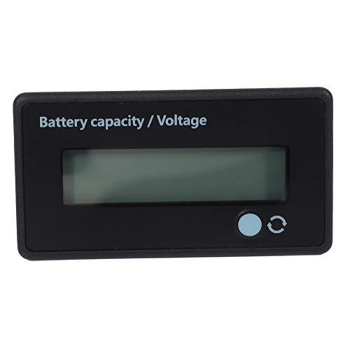 Kaxofang 12V 24V 36V 48V Medidor de Batería, Indicador de Voltaje de Capacidad de la Batería, Monitor de Descarga de Carga de la Batería de Ión Litio y Plomo, para Motocicleta