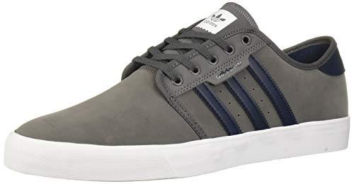 adidas Originals Men's Seeley Sneaker, Grey Five/Collegiate Navy/White, 5.5 M US