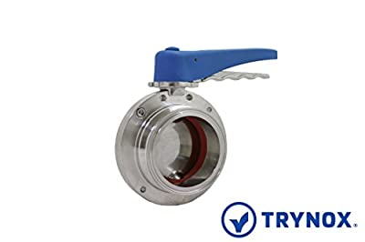 """Trynox Clamp Sanitary Stainless Steel Butterfly Valve Buna Seal 316L 3"""" Tri clamp Sanitary Fitting from Trynox"""