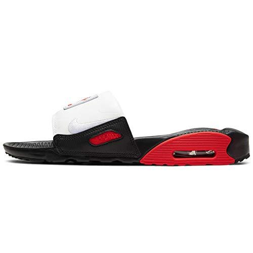 Nike Air Max 90 Slides da donna, nero (Nero/Bianco-Cile Rosso), 36.5 EU