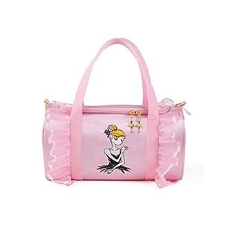 Dance Duffel Bag For little Girls Gym Bag Sports Duffle Bag for Kids Pink