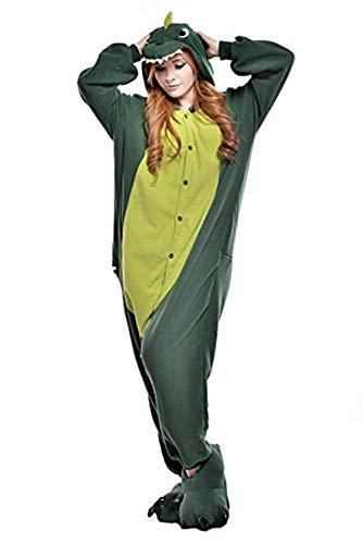 Regenboghorn Unisex Einhorn kostüme, Schlafanzug, Pyjama,für das Halloween ,Karneval und Weihnachten mit der Kapuze (S, Dinosaurier)