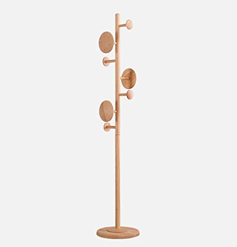KaiKai Perchero Percha de Madera Sombrero Soporte Perchero Percha Planta Dormitorio casa Sencilla de Madera de 183 cm Color