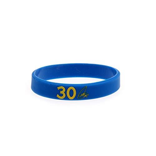 Xlin Curry 30 Signature Edition Braccialetto Elastico NBA Gli Appassionati di Basket Polso Luminosa Silicone Sport di energia Anello Uomini Mano (Color : Blue)