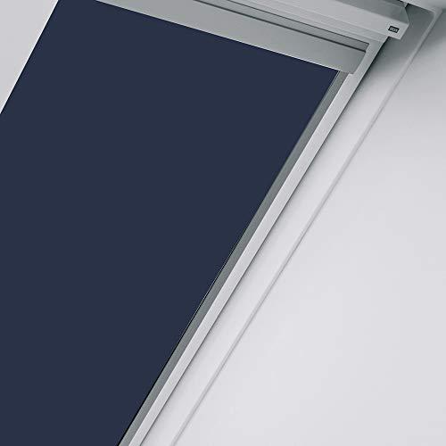 VELUX Orignal Sichtschutzrollo RML MK04 9050/Bedienart : Elektrisch/Farbe : Uni Blau/Fenstergröße : MK04/Fenstertypen : GGU, GGL, GPU, GPL, GTU, GTL_25152