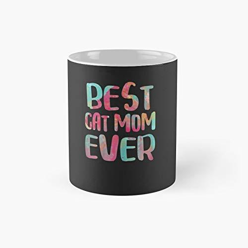Taza clásica con texto en inglés 'Best Cat Mom Ever Mother's Day'