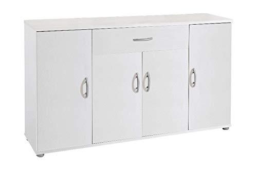 AVANTI TRENDSTORE - Lilo - Comò e mobili con Ante, in Stile Moderno in Legno Laminato, Disponibile in 2 Diversi Colori e Diverse Misure (118x70x30 cm, Bianco)