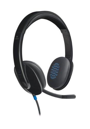 Logitech H540 Auriculares con Cable, Sonido Estéreo con Micrófono con Supresión de...
