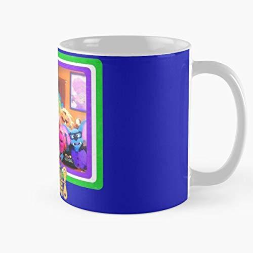 Shoprkcb Batley Eureeka Puppet Eureekas Nick Bat Dragon Castle Taza de café con Leche 11 oz