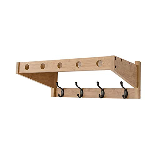 Kitchen Furniture - Étagère Suspendue au Mur Multifonctionnel de Support en Bois Solide de Salle de Bains pour Le Porche de Chambre à Coucher de Salon WXP