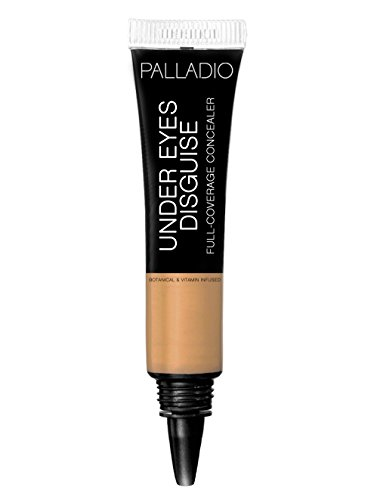 Palladio Under Eyes Disguise Full Coverage Concealer, Cafe Au Lait, 0.35 oz, Creamy Face and Eye Concealer, Evens Skin Tone, Conceals Blemishes, Dark Circles and Fine Lines, Use with Concealer Brush (0.35 Ounce Brush)