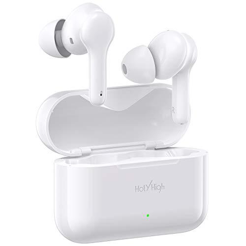 HolyHigh Cuffie Bluetooth, Cuffie Wireless in Ear Auricolari Bluetooth Stereo True Wireless, 30 Ore di Riproduzione con Custodia di Ricarica