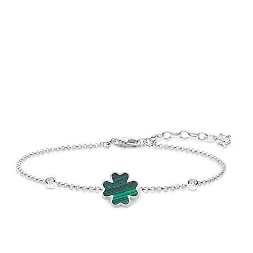 THOMAS SABO Damen-Armband Kleeblatt 925 Sterling Silber Länge von 16 bis 19 cm A1766-478-6-L19v