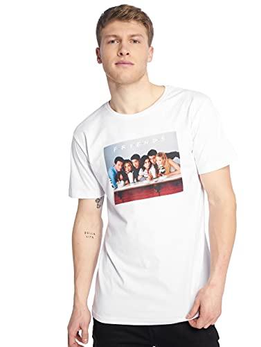 MERCHCODE Friends Group Tee T-Shirt, Blanc (White 00220), XX-Large Homme