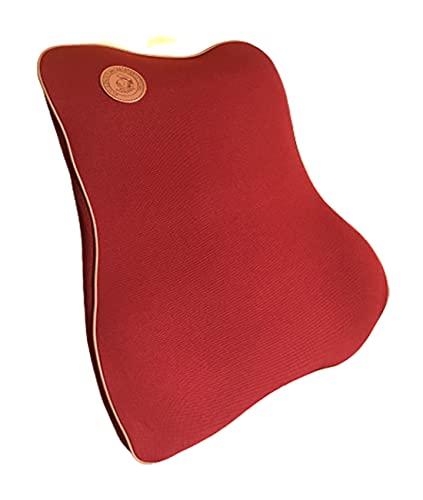 Ducomi Flex – Cojín ortopédico lumbar de asiento de espuma viscoelástica – Soporte ergonómico de espalda – Indispensable en oficina, coche y casa – Alivia el dolor y estimula la correcta postura (Red)