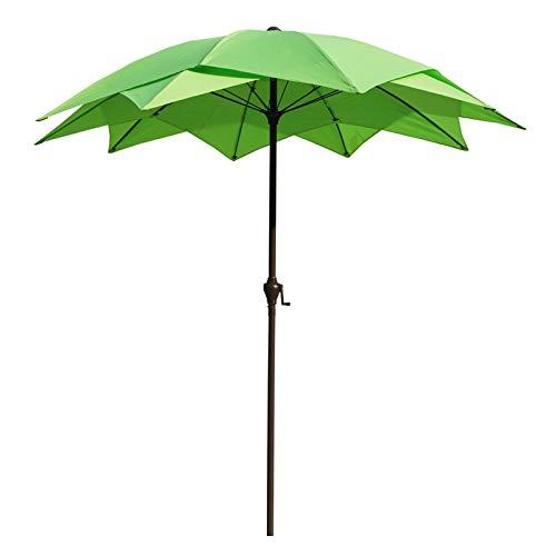 HWF Sombrilla Sombrilla de Patio, Sombrillas al Aire Libre de 2,5m para jardín/Playa/Piscina, Sombrilla Impermeable con protección UV 50+ (Color : Green, Size : Ø 8.2ft/2.5m)