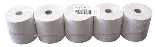 Heipa Technische Papiere - Rollos de papel térmico (sin texto impreso, 58 x 64 x 12 mm, 50 m, 5 unidades)