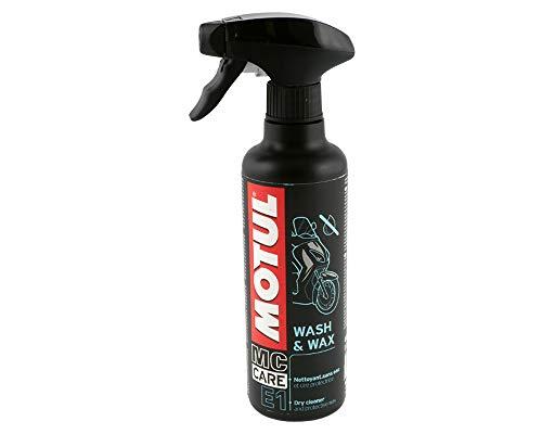Motul E9 Wash & Wax Spray 400ml Motorrad Trockenreiniger Fahrzeug Versiegelung