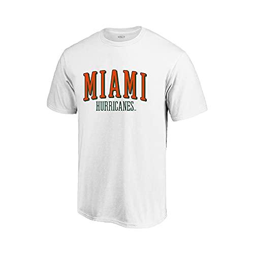 Venley Official NCAA Miami Hurricanes Men's/Women's Boyfriend T-Shirt RYLMIA07 - White, 2XL