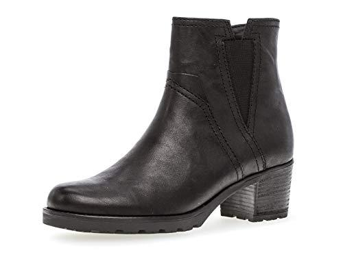 Gabor Damen Stiefelette 32.804, Frauen Kurzstiefel,Stiefel,Boot,Halbstiefel,Bootie,Reißverschluss,schwarz (Mel.),39 EU / 6 UK