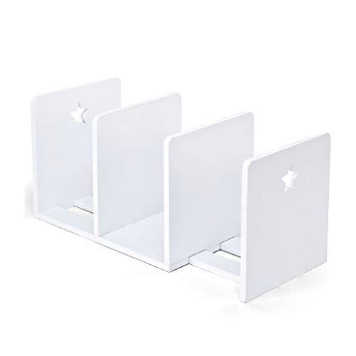 NYKK Schreibtisch-Organisator Desktop Storage Box Kinderbücherregal Schüler-Desktop Erweiterte Storage Rack Kleine Heimatfront Einfache Kreative Holzständer (Color : White)
