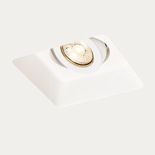 QAZQA Design/Modern Einbaustrahler Zero quadratisch I/Innenbeleuchtung/Wohnzimmerlampe/Schlafzimmer/Küche Gips Quadratisch LED geeignet GU10 Max. 1 x 50 Watt