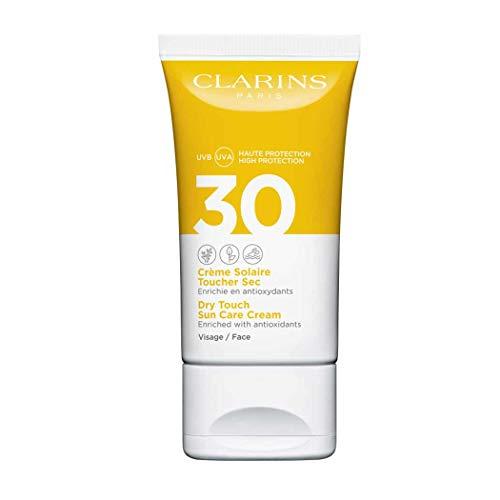 Clarins - Crema Solare Viso Dry Touch UVB / UVA 30, 3 x 50 ml