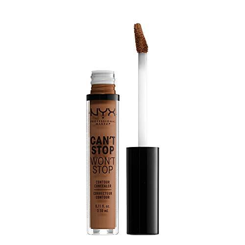 Nyx Professional Makeup Corrector No Comedogénico, Waterproof Y De Larga Duración Can'T Stop Won'T Stop 24H Tono 17 Cappuccino Para Pieles Muy Oscuras
