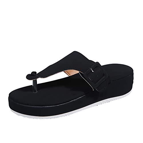 Sandalias de Mujer Chanclas Cómodas para Mujer con Soporte de Arco Sandalias de Cuña Informales de Verano Zapatos Función de Masaje Regalo