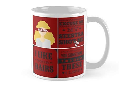 N\A Mug Orphan Black - Taza Helena - Taza de 11 oz - Presenta Estampados envolventes - Hecho de cerámica Amigos de la Familia