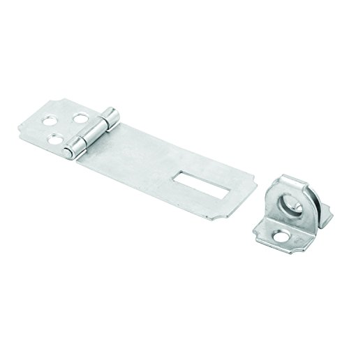 Prime-Line MP5056 Safety Hasp, 2-1/2 Inch, Steel Construction, Zinc Plated Finish, Fixed Stapled, Pack of 1
